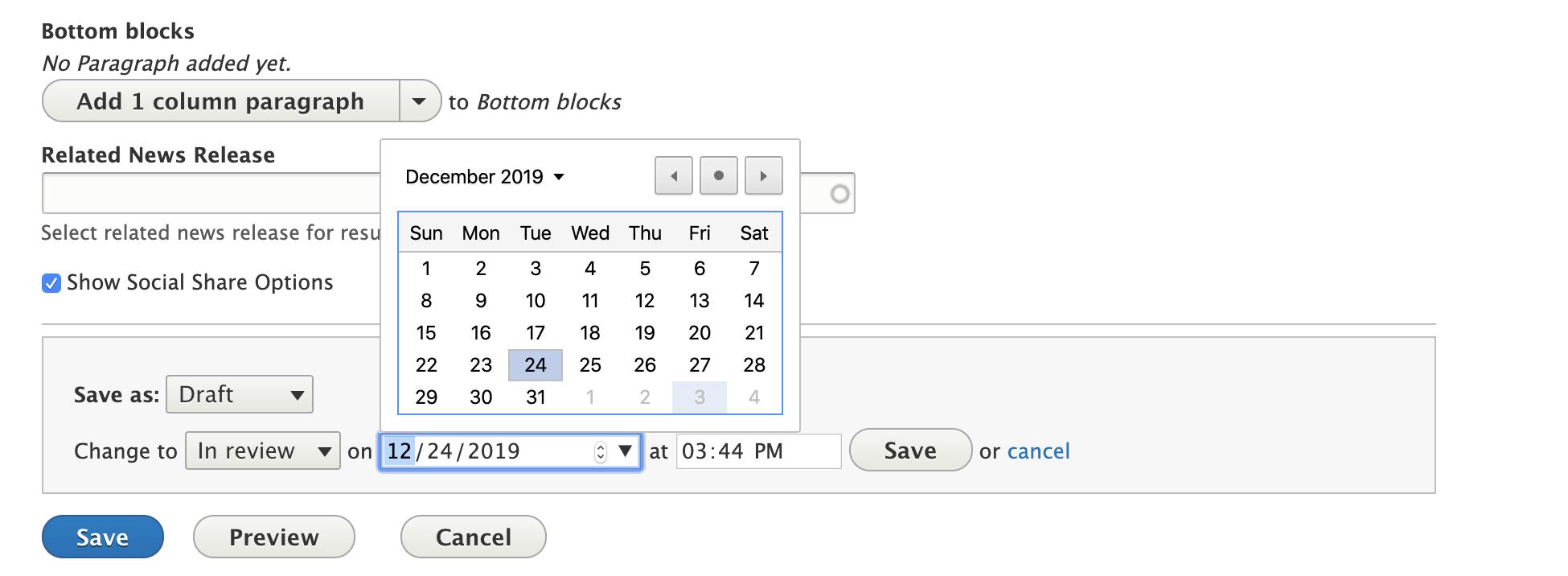 4. Scheduler in Drupal