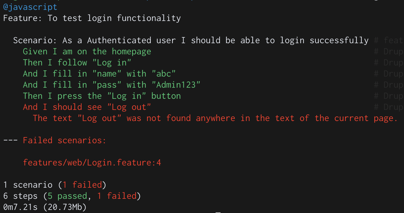 screenshot of codes