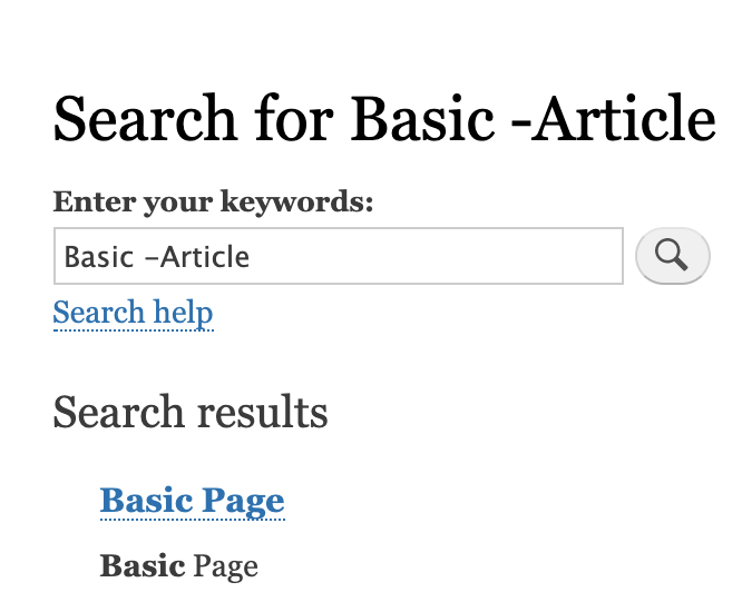 Search for basic - Article