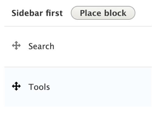 sidebar first in search module