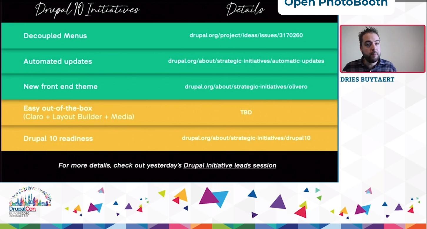 Driesnote at DrupalCon EU 2020