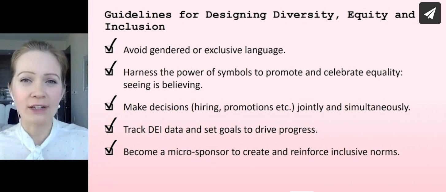 guidelines for designing diversity, equity and inclusion