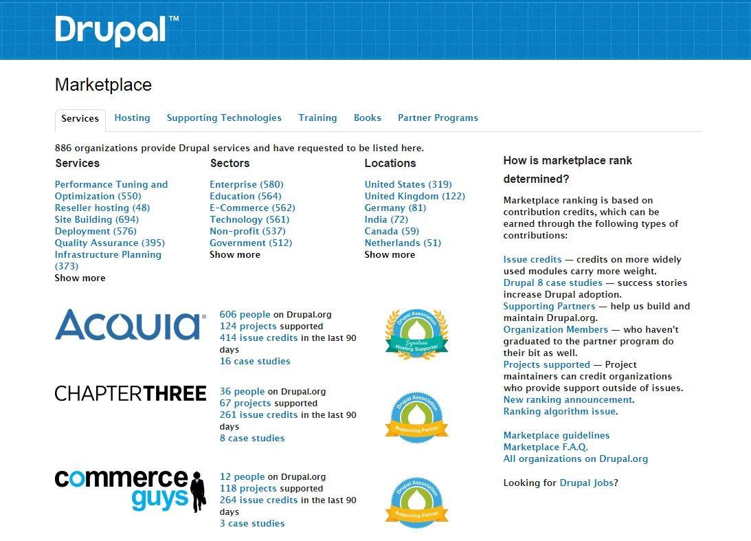 Drupal Marketplace screenshot
