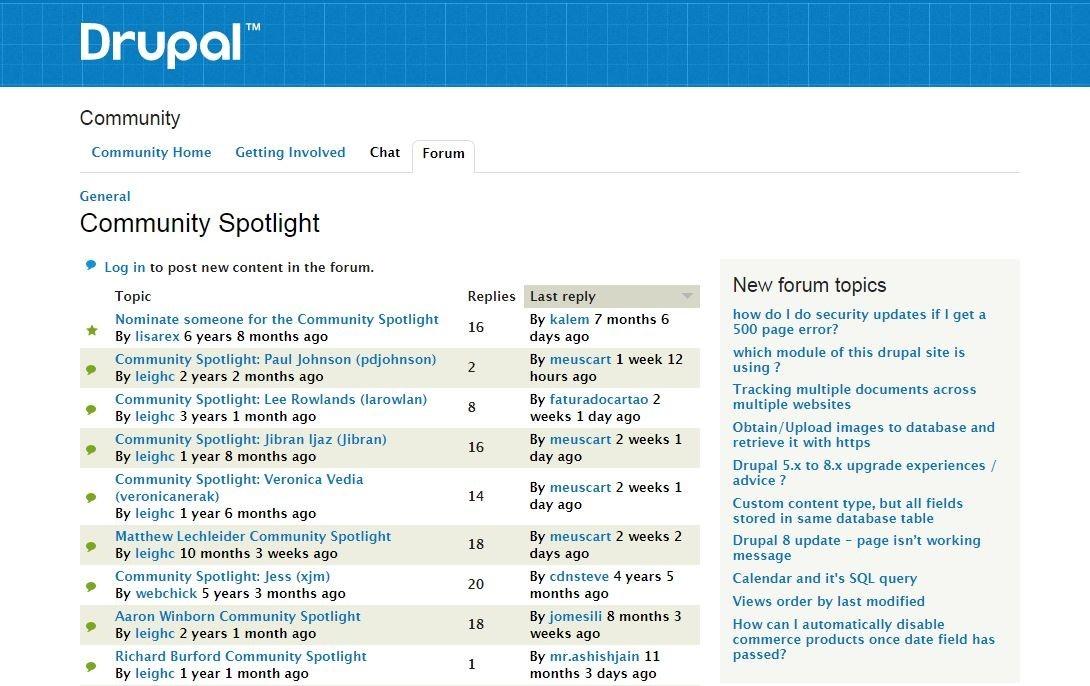 Drupal Community Spotlight screenshot
